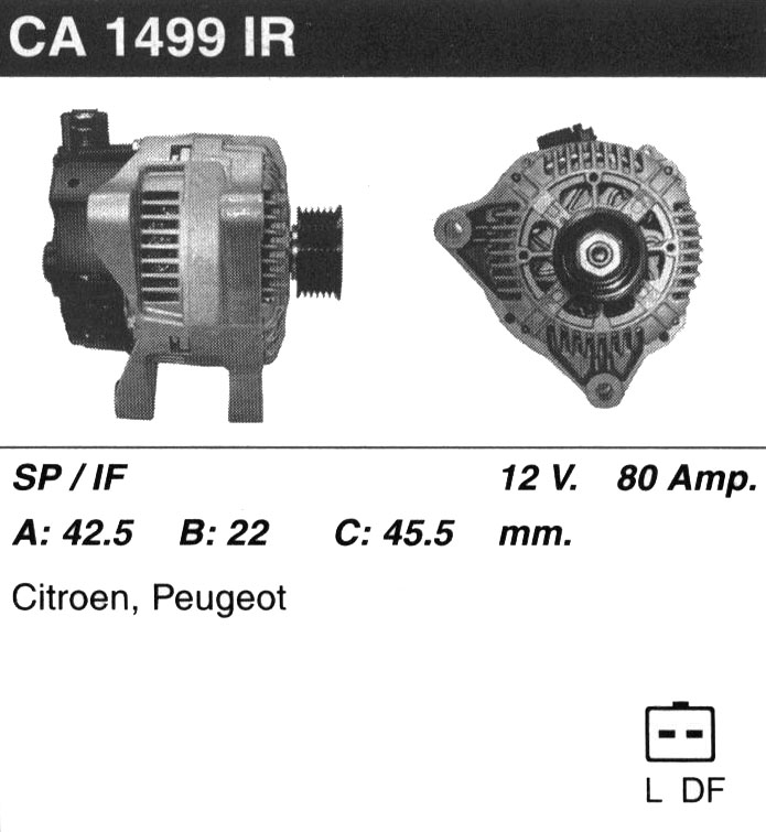 генераторп на ситроен с4 wtyf